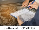 repair man checking  and... | Shutterstock . vector #719703439