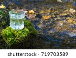 Fresh Water In A Glass On A...