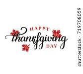 vector isolated lettering for... | Shutterstock .eps vector #719708059