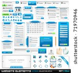 web design elements extreme... | Shutterstock . vector #71970946