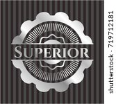 superior silvery badge | Shutterstock .eps vector #719712181
