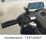 motorcycle switch control. | Shutterstock . vector #719716507