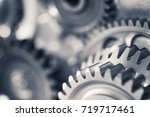 engine gear wheels  industrial... | Shutterstock . vector #719717461
