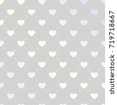 vector illustration with hearts.... | Shutterstock .eps vector #719718667
