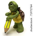 3d Render Of A Tortoise Holdin...