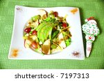 christmas salad with apples... | Shutterstock . vector #7197313