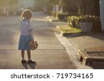 5 year old asian little girl... | Shutterstock . vector #719734165