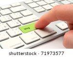 on line blog concept   keyboard ... | Shutterstock . vector #71973577