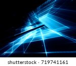 abstract blue and black... | Shutterstock . vector #719741161