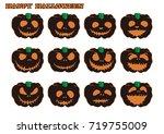 halloween pumpkin   Shutterstock .eps vector #719755009