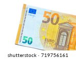 Fifty Euro Banknote Isolated O...