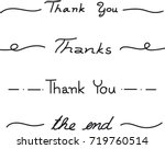 vector   black line to say ... | Shutterstock .eps vector #719760514