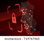 lock face id scan vector | Shutterstock .eps vector #719767465