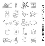 set of farming icons | Shutterstock .eps vector #719767795