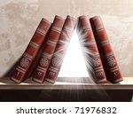 illustration of magical books... | Shutterstock . vector #71976832