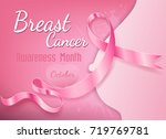 breast cancer october awareness ... | Shutterstock .eps vector #719769781