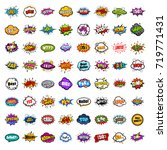 huge collection comic sound...   Shutterstock .eps vector #719771431