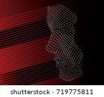 abstract face vector | Shutterstock .eps vector #719775811
