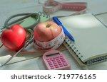 healthy concept. diet plan ... | Shutterstock . vector #719776165