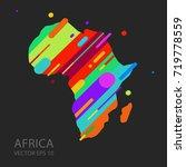 africa map silhouette vector...   Shutterstock .eps vector #719778559