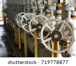 manual valve process oil and... | Shutterstock . vector #719778877