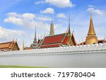 grand palace and wat phra keaw. ... | Shutterstock . vector #719780404