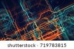 abstract technological... | Shutterstock . vector #719783815