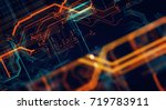abstract technological... | Shutterstock . vector #719783911