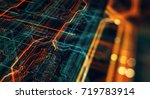 abstract technological... | Shutterstock . vector #719783914