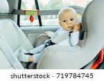 little cute seriously baby... | Shutterstock . vector #719784745