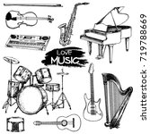 Hand Drawn Sketch Style Musica...