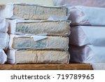 traditional artisan cheese... | Shutterstock . vector #719789965