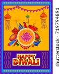 vector design of happy diwali... | Shutterstock .eps vector #719794891