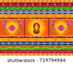 vector design of happy diwali...   Shutterstock .eps vector #719794984