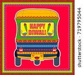 vector design of happy diwali... | Shutterstock .eps vector #719795044