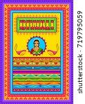 vector design of happy diwali... | Shutterstock .eps vector #719795059