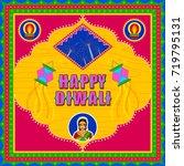 vector design of happy diwali... | Shutterstock .eps vector #719795131
