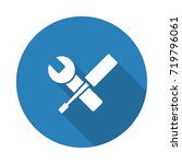 flat white service web icon... | Shutterstock . vector #719796061
