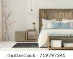 3d illustration. interior of... | Shutterstock . vector #719797345