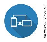 flat white responsive media... | Shutterstock . vector #719797561