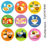typical meals in japan 02 | Shutterstock .eps vector #719797999