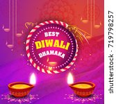 vector illustration of diwali... | Shutterstock .eps vector #719798257