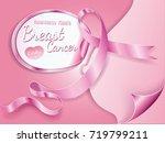breast cancer october awareness ... | Shutterstock .eps vector #719799211