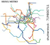 map of the seoul metro  subway  ... | Shutterstock .eps vector #719800711