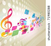 abstract music notes mosaic... | Shutterstock .eps vector #71980288