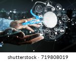 businessman on blurred... | Shutterstock . vector #719808019