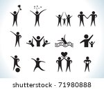 abstract people icon vector illustration - stock vector