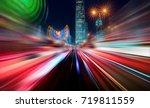 abstract motion blur city | Shutterstock . vector #719811559
