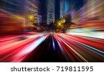 abstract motion blur city | Shutterstock . vector #719811595