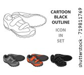 shoes for cyclists. special... | Shutterstock .eps vector #719811769